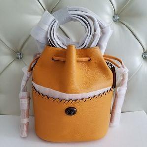 COACH Lora Bucket Bag With Whipstitch Detail